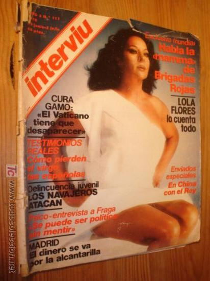 REVISTIA, - INTERVIU Nº 111 1978 29 JUNIO, PORTADA LOLA FLORES, (Coleccionismo - Revistas y Periódicos Modernos (a partir de 1.940) - Revista Interviú)