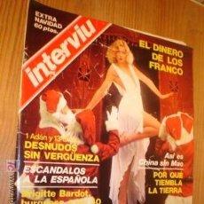 Coleccionismo de Revista Interviú: REVISTA - INTERVIU -EXTRA DE NAVIDA AÑO 76,`PORTADA, EL DINERO DE LOS FRANCO.. Lote 4438716