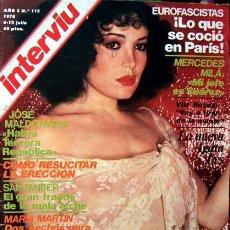 Coleccionismo de Revista Interviú: REVISTA INTERVIU Nº 112 / AGATA LYS, MARIA MARTIN, LOLA FLORES, MERCEDES MILA, ANTONIO GALA. Lote 46356630