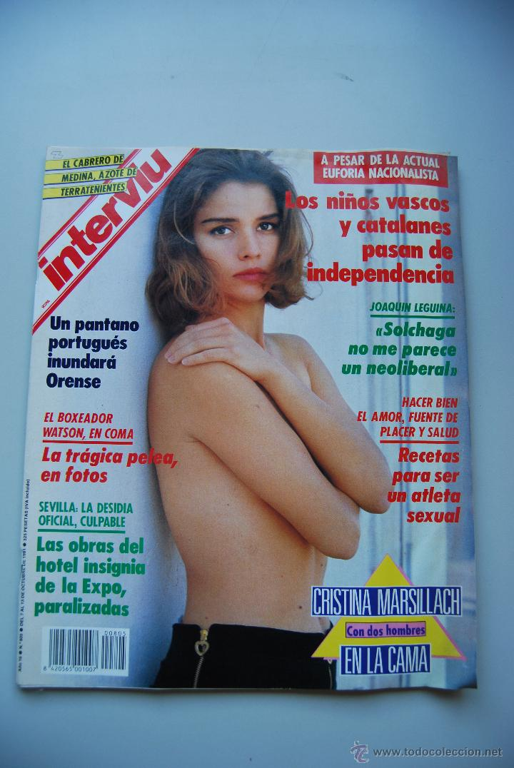 Revista Interviú Num805 Año 1991 Cristina Marsillach Leguina Pantano Portugués Niños Vascos