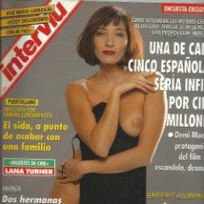 Coleccionismo de Revista Interviú: INTERVIU Nº 892 DE 1993 -CON - 1 DE CADA 5 ESPAÑOLAS SERIA INFIEL- CARRASCAL-EL SEXO BUENO PARA AMAR. Lote 47565490