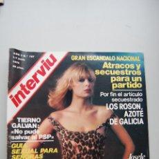 Coleccionismo de Revista Interviú: REVISTA INTERVIÚ NÚMERO 107-1978: JOSELE ROMAN-LOS ROSON AZOTE DE GALICIA-TIERNO GALVAN. Lote 121651503