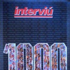 Coleccionismo de Revista Interviú: REVISTA ESPECIAL INTERVIU NUMERO MIL 1000 SABRINA SALERNO KIM BASINGER AMPARO LARRAÑAGA. Lote 116840722