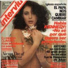 Coleccionismo de Revista Interviú: REVISTA INTERVIU Nº 198 / NORMA DUVAL, EVA ROBINS, AJITA WILSON, KENNEDY, ANTONIO EL BAILARIN. Lote 48504420