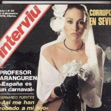 Coleccionismo de Revista Interviú: REVISTA INTERVIU Nº 29 AÑO 1976. CHICAS: SARA LEZANA, FLOR DE PIEL. ANNIE, LA GATITA. . Lote 48751508