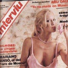 Coleccionismo de Revista Interviú: REVISTA INTERVIU Nº 38 AÑO 1977. DESTAPE: BRANDA. DOMINIQUE SANDA. . Lote 48752130