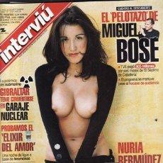 Collectionnisme de Magazine Interviú: REVISTA INTERVIU Nº 1273 AÑO 2000. PORTADA: NURIA BERMUDEZ. EL PELOTAZO DE MIGUEL BOSE. . Lote 83555136