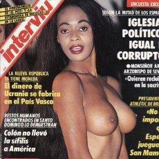 Coleccionismo de Revista Interviú: REVISTA INTERVIU Nº 819 AÑO 1992. PORTADA: ANTONIO MOORE LA NEGRITA DE JESUS GIL SE DESNUDA. . Lote 48881329