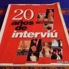 Coleccionismo de Revista Interviú: 20 AÑOS DE INTERVIÚ 1976 1996. MAYO 1996.. Lote 49072227