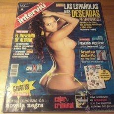 Coleccionismo de Revista Interviú: REVISTA INTERVIU Nº 1373-AGOSTO 2002-NATALIA AGUIRRE-TOP LESS ARANTXA DE BENITO. Lote 147469536