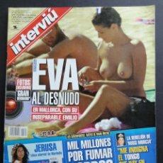 Coleccionismo de Revista Interviú: INTERVIU NUM. 1319. PORTADA EVA GRAN HERMANO. CON FASCÍCULO. AGOSTO 2001. EXCELENTE ESTADO.. Lote 51108578