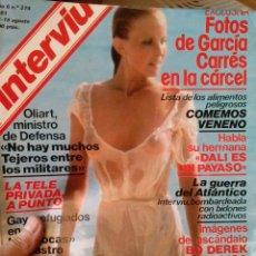 Coleccionismo de Revista Interviú: INTERVIU 1981 LA CHELO DESNUDA BO DEREK DALI. Lote 52086667