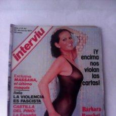 Coleccionismo de Revista Interviú: REVISTA INTERVIU Nº43 1977 MASSANA:ULTIMO MAQUIS-CASTILLA DEL PINO-BARBARA BOUCHET. Lote 53945029