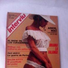 Coleccionismo de Revista Interviú: REVISTA INTERVIU Nº18 1976 ADIOS MAO-BRAMA LA FALANGE-SALON KITTY-CHILE-GUERRA PERTUR. Lote 53972282