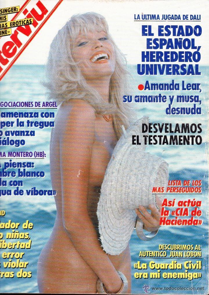 Amanda Lear Portada Y Reportaje Revista Int Sold Through Direct
