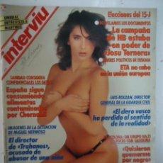 #Sabrina Salerno# portada y reportaje / revista interviu 683 / junio 1989/ 16