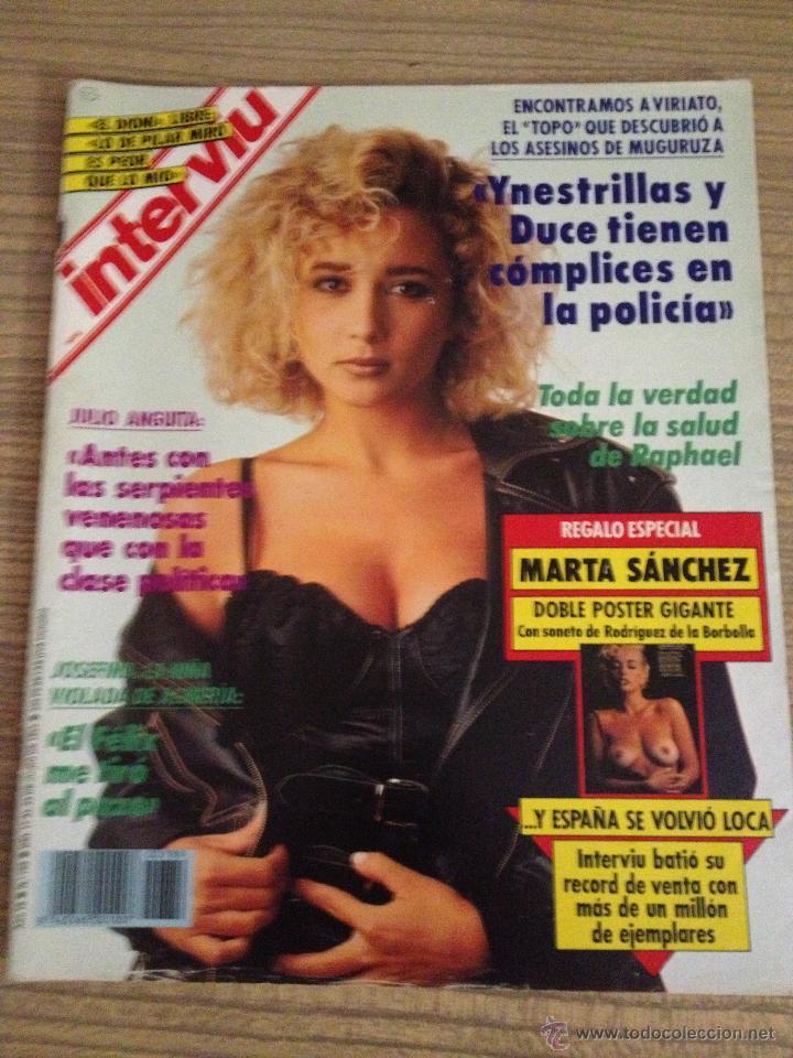 Revista Interviu Portada Marta Sanchez Comprar Revista