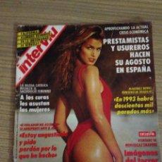 Coleccionismo de Revista Interviú: REVISTA INTERVIU PORTADA CINDY CRAWFORD. Lote 54359610