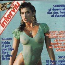 Coleccionismo de Revista Interviú: #SABRINA SALERNO# PORTADA Y REPORTAJE / REVISTA INTERVIU 603 / DICIEMBRE 1987/ 20. Lote 61937715