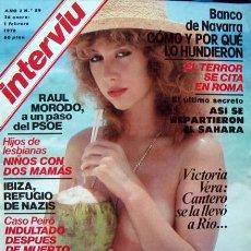 Coleccionismo de Revista Interviú: REVISTA INTERVIU Nº 89 / VICTORIA VERA, EVA ROBIN, CARROLL BAKER / 1978. Lote 54525435