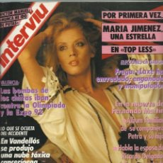 Coleccionismo de Revista Interviú: #MARIA JIMENEZ# PORTADA Y REPORTAJE / REVISTA INTERVIU 709 / DICIEMBRE 1989/1050. Lote 54864554