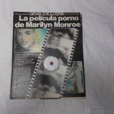 Coleccionismo de Revista Interviú: INTERVIU ABRIL-80, SOLO REPORTAJE DE LA PELICULA PORNO DE MARILYN MONROE,3 PAGINAS. Lote 54895593