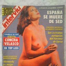 Coleccionismo de Revista Interviú: #CONCHA VELASCO# PORTADA Y REPORTAJE / REVISTA INTERVIU 842 / JUNIO 1992 / 60. Lote 101196566