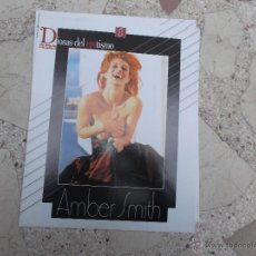 Coleccionismo de Revista Interviú: INTERVIU ,DIOSAS DEL EROTISMO Nº 8,AMBER SMITH,SUPERPOSTER, 8 PAGINAS. Lote 56069004