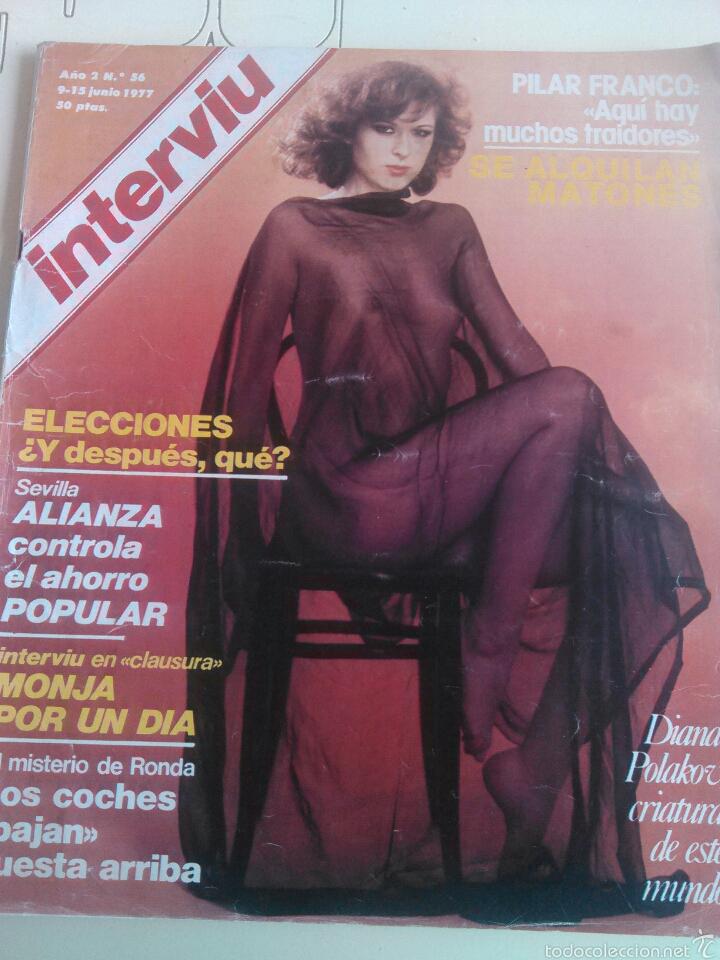 REVISTA INTERVIU N'56 AÑO 1977 PORTADA DIANA POLAKOV. (Coleccionismo - Revistas y Periódicos Modernos (a partir de 1.940) - Revista Interviú)