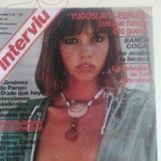 Coleccionismo de Revista Interviú: REVISTA INTERVIU N'82 AÑO 1977 PORTADA SANDRA ALBERTI.. Lote 56634926