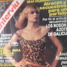 Coleccionismo de Revista Interviú: INTERVIU Nº 107 DE 1978- JOSELE ROMAN, ROSON, LOS SIREX, MUSTANG, TIERNO GALVAN, NAZIS DESNUDAS VER+. Lote 59000150