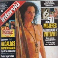 Coleccionismo de Revista Interviú: INTERVIU Nº 1205 , SONIO SAMPEDRO. LAS 50 MUJERES MAS DESEADAS DE INTERNET.. Lote 57396374