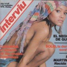 Coleccionismo de Revista Interviú: INTERVIU Nº 25 AÑO 1976 VICTORIA VERA , ELSA MARTINELLI. Lote 57439063