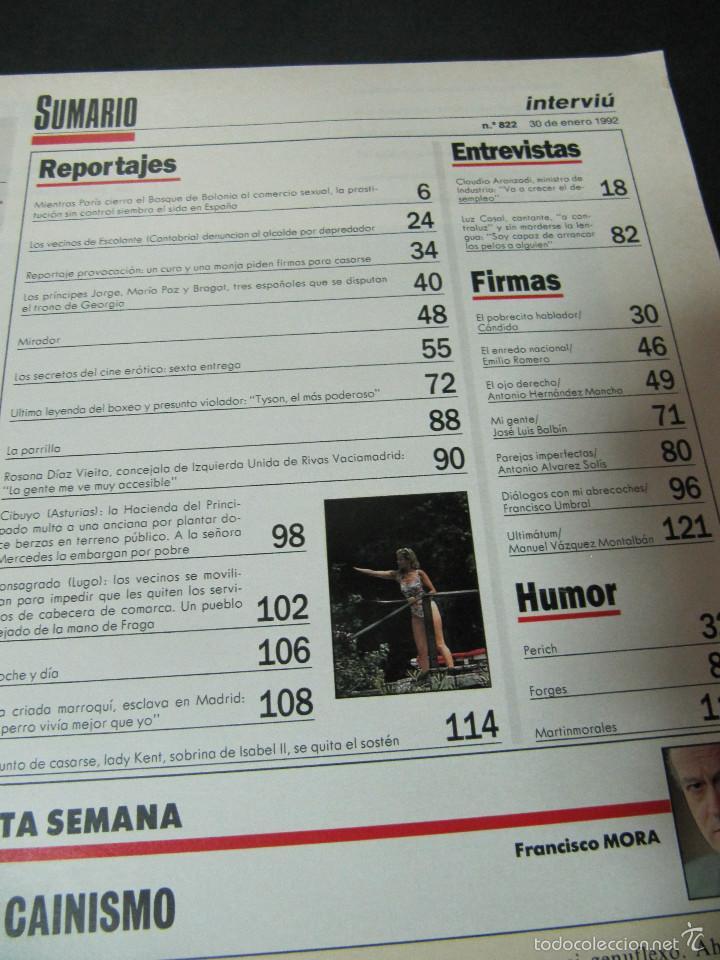 Coleccionismo de Revista Interviú: REVISTA INTERVIU ENERO 1992 ROSANA DIAZ MIKE TYSON - Foto 3 - 57983060
