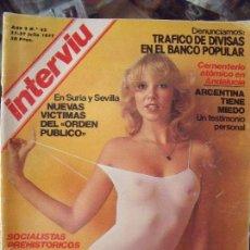 Coleccionismo de Revista Interviú: INTERVIU N62 1977. Lote 58015210