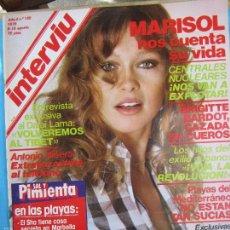 Coleccionismo de Revista Interviú: INTERVIU N.169 , MARISOL , EL CASINO,MALLORCA , DALAI LAMA , LA CHEKA , BRIGITTE B., SAL Y PIMIENTA. Lote 58183430