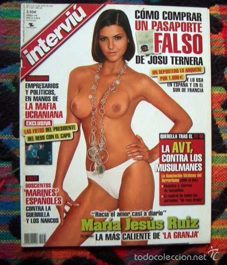Revista Interviu Miss España Maria Jesus Ruiz Desnuda Leonardo Sbaraglia Sexo En La Radio Y