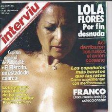 Coleccionismo de Revista Interviú: INTERVIU AÑO 8- Nº383 - 1983 EDICIÓN ESPECIAL CON MOTIVO DEL 40 ANIVERSARIO DE LA REVISTA. Lote 60852435