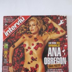 Coleccionismo de Revista Interviú: INTERVIU ANA OBREGON. Lote 61196311