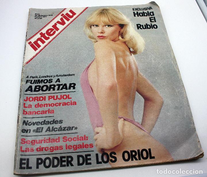 REVISTA INTERVIU Nº 33 DE 1976 / 1977 - EL RUBIO, JORDI PUJOL, ORIOL (Coleccionismo - Revistas y Periódicos Modernos (a partir de 1.940) - Revista Interviú)