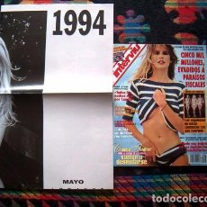 Coleccionismo de Revista Interviú: REVISTA INTERVIU / CLAUDIA SCHIFFER, PATRICIA PEREZ, GENNIFER FLOWERS, CALENDARIO GIGANTE 1994. Lote 64347791