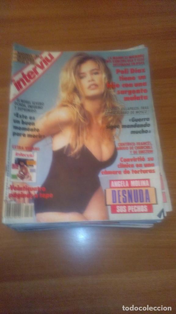 LOTE DE 13 REVISTAS INTERVIU AÑO 1991 - Nº EN EL INTERIOR (Coleccionismo - Revistas y Periódicos Modernos (a partir de 1.940) - Revista Interviú)
