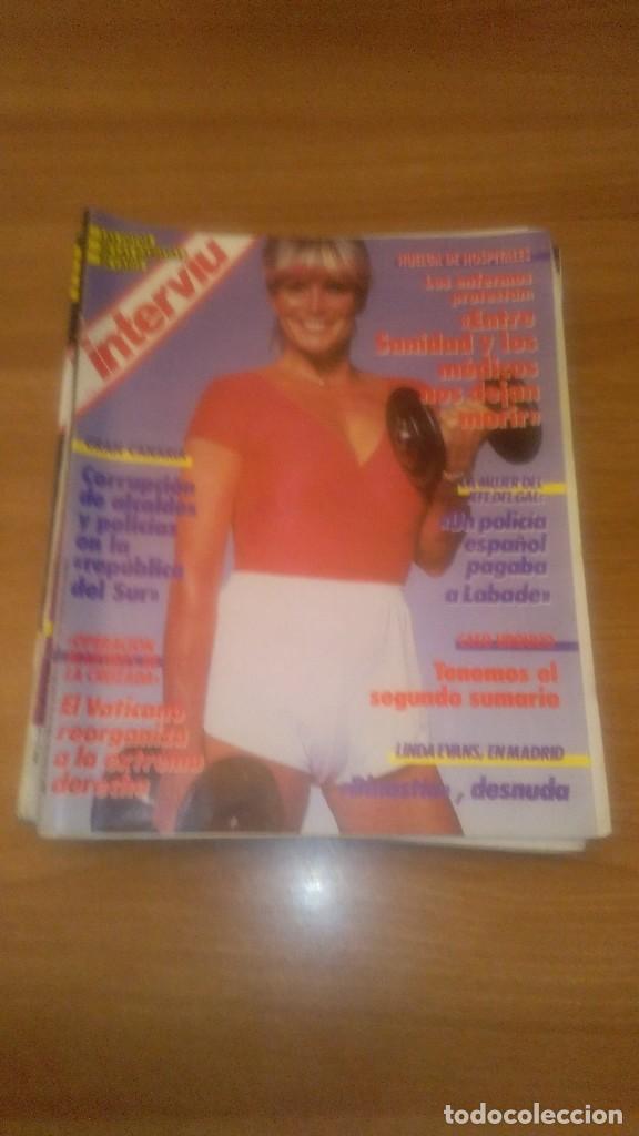 LOTE DE 7 REVISTAS INTERVIU AÑO 1987-Nº EN EL INTERIOR (Coleccionismo - Revistas y Periódicos Modernos (a partir de 1.940) - Revista Interviú)