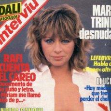 Coleccionismo de Revista Interviú: INTERVIU Nº443 1984- MARI TRINI DESNUDA- DALI FASCICULOS- DANIEL ORTEGA- MIGUEL BOSE - ERNEST LLUCH. Lote 73668183
