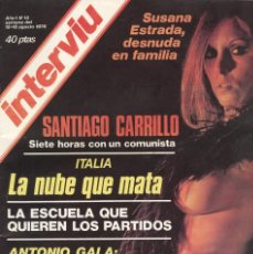 Coleccionismo de Revista Interviú: INTERVIU. Nº13. 1976. AÑO 1. SUSANA ESTRADA. Lote 74762123