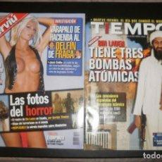 Coleccionismo de Revista Interviú: REVISTA INTERVIÚ. Nº1325 17-23 SEPTIEMBRE 2001. REPORTAJE ESPECIAL ATENTADOS DEL 11 S. Y TIEMPO. Lote 76810043