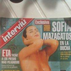 Coleccionismo de Revista Interviú: REVISTA INTERVIÚ SOFÍA MAZAGATOS N'1282 AÑO 2000.. Lote 76852639