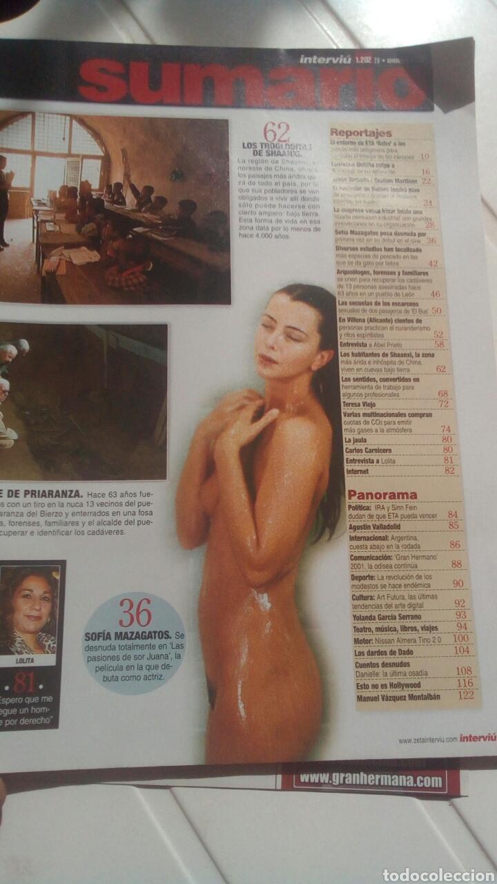 Coleccionismo de Revista Interviú: Revista Interviú Sofía mazagatos n1282 año 2000. - Foto 2 - 76852639