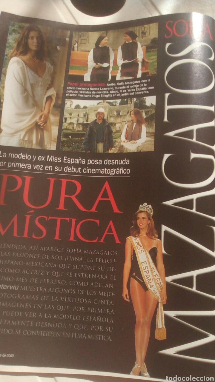 Coleccionismo de Revista Interviú: Revista Interviú Sofía mazagatos n1282 año 2000. - Foto 3 - 76852639