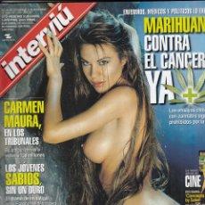 Collectionnisme de Magazine Interviú: REVISTA INTERVIU Nº 1279 AÑO 2000. RENATA PARMA. FRANK FRANCÉS Y SILVIA SALAS. CARMEN MAURA.. Lote 77416737